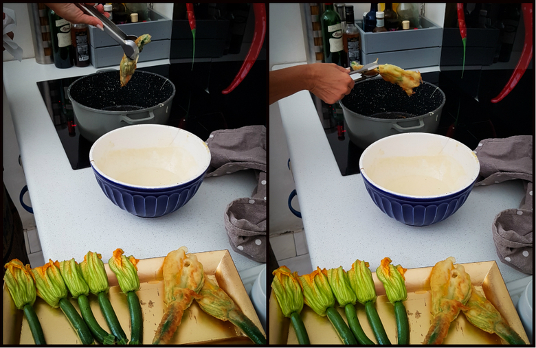 La cuisine du soleil - Les Beignets de fleurs de courgettes