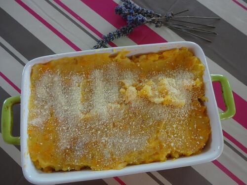 Hachis aux proteines de soja et purée de carotte/pomme de terre