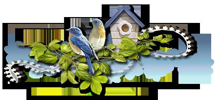 Barres de séparations , fleurs, fruits, oiseaux
