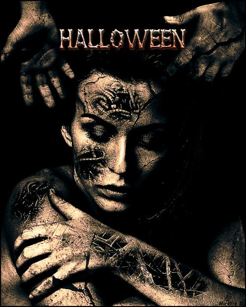 Portrait Halloween très Sombre d'après Tutoriel