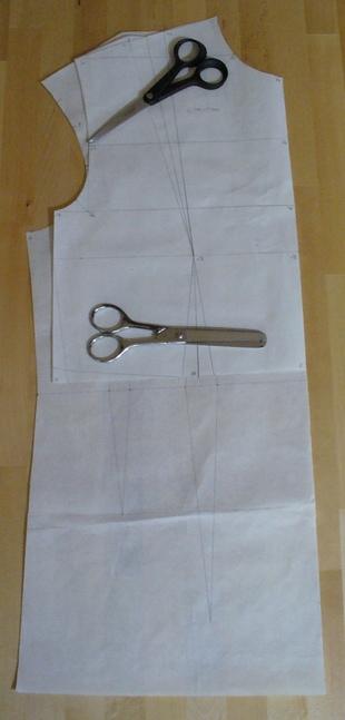 Devant base corsage avec élargissement esmod & holman