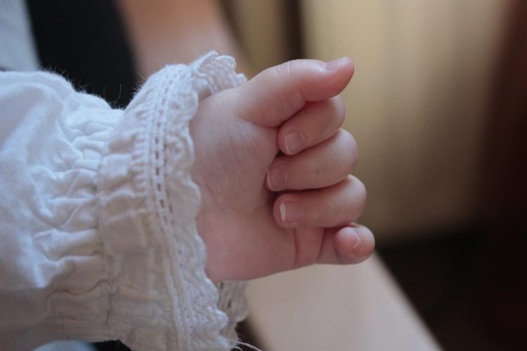 La petite main d'Emma...