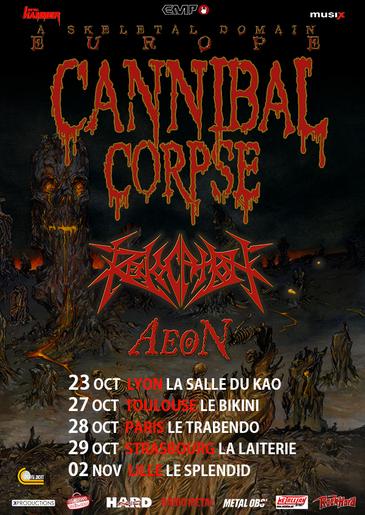 Live-Report Aeon , Revocation et Cannibal Corpse