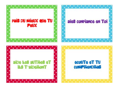 organisation de classe : petits papiers positifs
