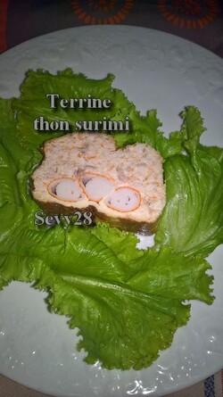 Terrine au thon et surimi (thermomix)