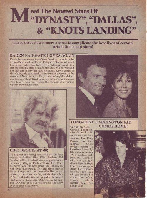 Couples,Knots,Dallas et Dynastie