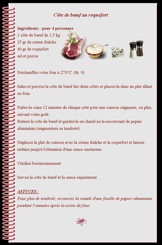 Côte de bœuf au roquefort