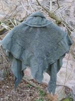 Châle en soie feutrée
