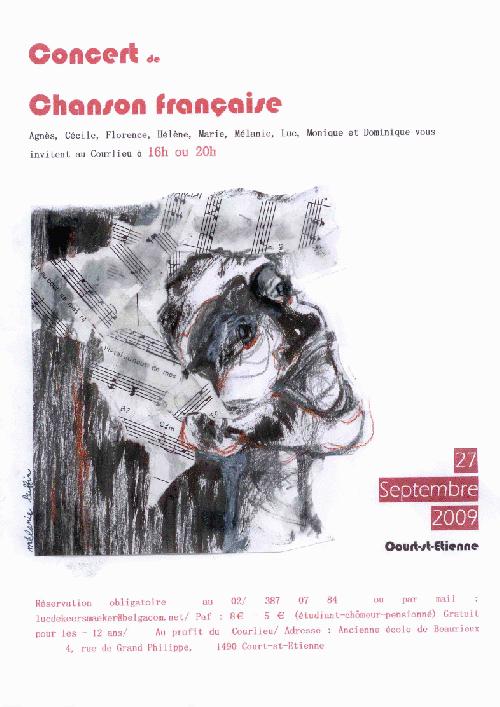 Concert Chanson française au profit du Courlieu ce 27 septembre
