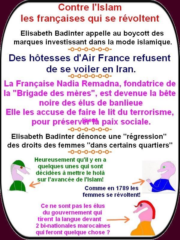 Des françaises osent se révolter contre l'avancée des coutumes islamiques!