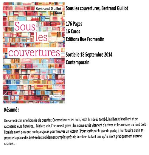 Sous les couvertures, Bertrand Guillot