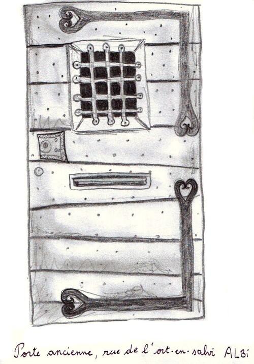 Croquis d'une porte ancienne à Albi
