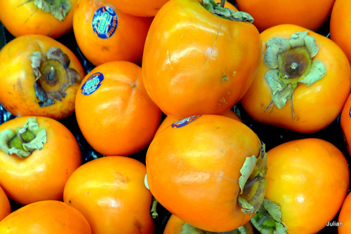 Des fruits : kakis et mandarines ... (3)