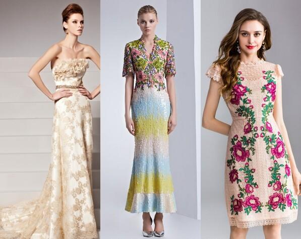 robe de soirée printemps imprimé florale