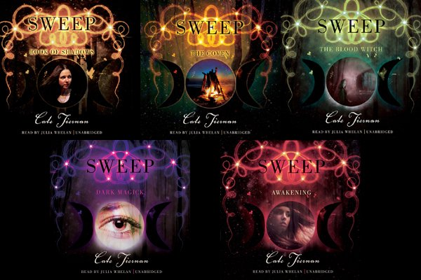 Illustrations des audiobooks américains de Wicca