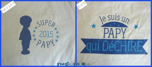 Tee-shirt I love papy et mamie..... et plus.........