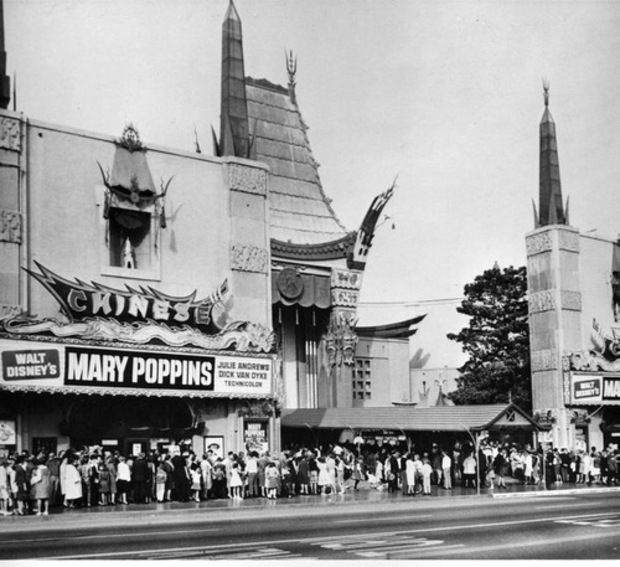 MARY POPPINS AU CHINESES THEATER BOX OFFICE USA 1964