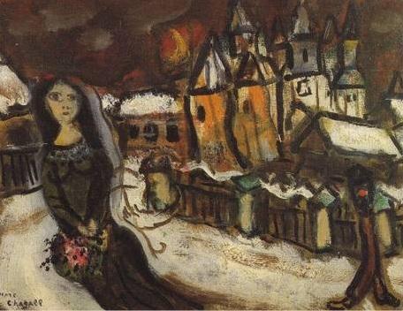 Village sous la neige de Chagall