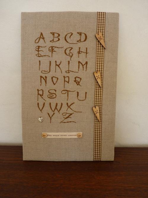 Un joli alphabet en point de croix ...