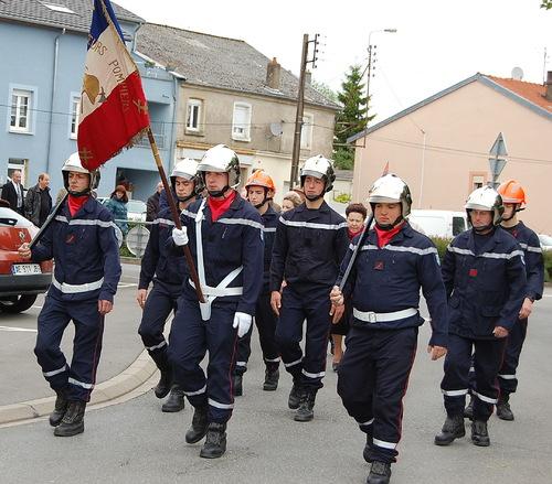 Les Sapeurs-pompiers étaient également présents lors de la cérémonie du 8 mai