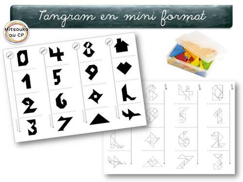 Mini fiches individuelles de tangram