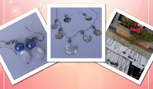 Exposition de mes bijoux sur la fête des berges à Veretz
