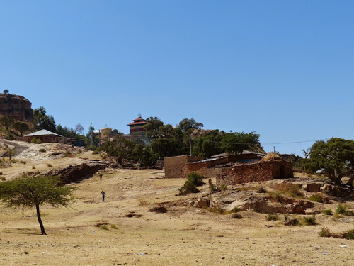 l'église crypte  de Debré Damo