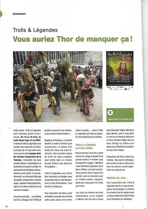 On parle de @TrollsLegendes dans Mons Mag #74