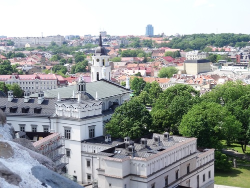 Vues de Vilnius depuis la Citadelle (photo)