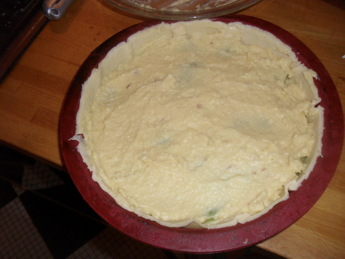dessert simple et efficace..un flan pâtissier...au kiwi