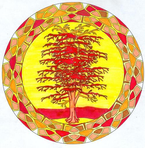 DOMANDALAS  mandala de l'arbre de la savane
