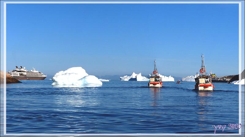 L'entrée du port d'Ilulissat - Groenland