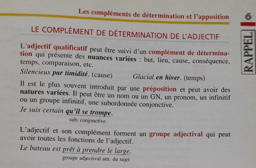 C / Le groupe adjectival