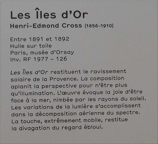 """Les Iles d'Or"" - Edmond-Charles Cross"
