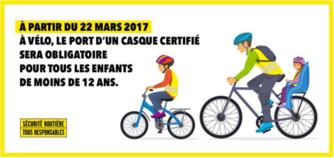Vélo 12 ans casque obligatoire