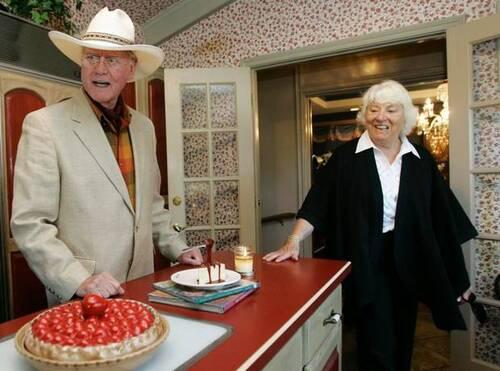 Larry Hagman et sa femme Maj.