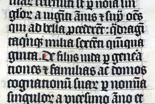 De la calligraphie à la typographie