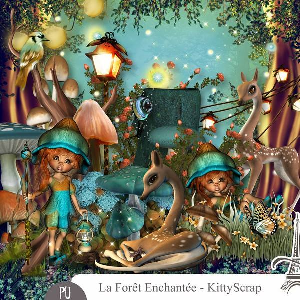 LA FORÊT ENCHANTÉE by Kitty Scrap