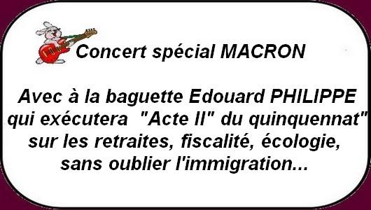 Que dire du concert Macron 2 orchestré par Philippe ?