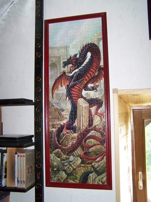 Des dragons encadrés