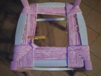 Rempaillage Da Chaise Avec Tissu