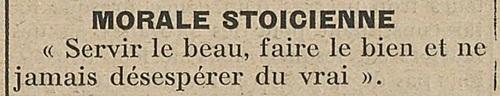 Morale stoïcienne (Le Biéniste, 15 novembre 1922)