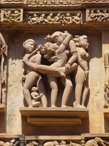 les temples érotiques de Khajuraho