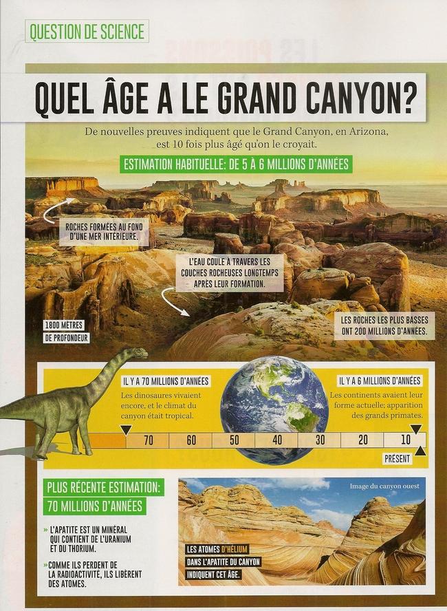 Sciences-Général - Quel âge a le grand canyon?