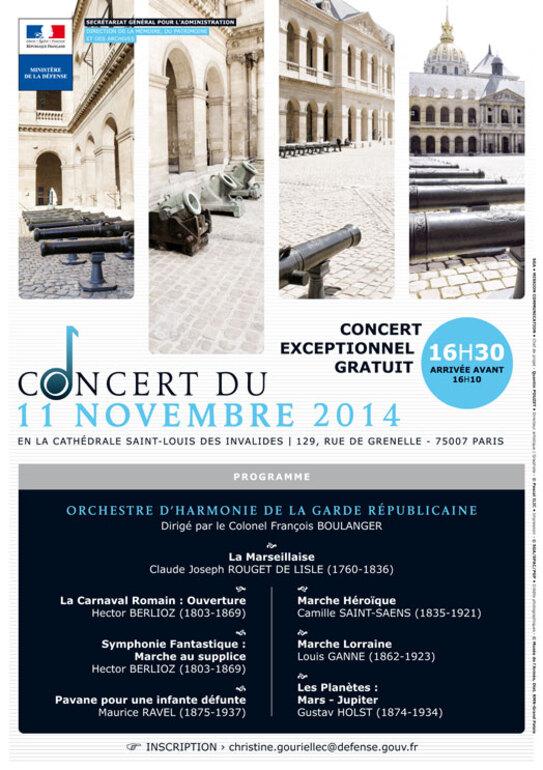 *11 novembre à Paris - Concert exceptionnel gratuit
