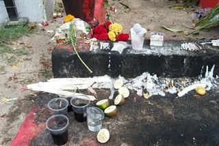 Offrandes sur la tombe de Sitarane.