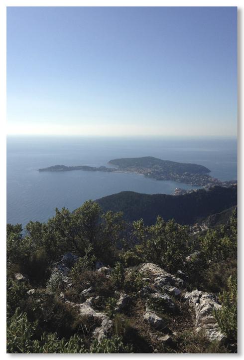 Eze :  vues sur la Méditerranée