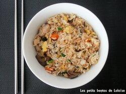 riz au poulet et aux oeufs