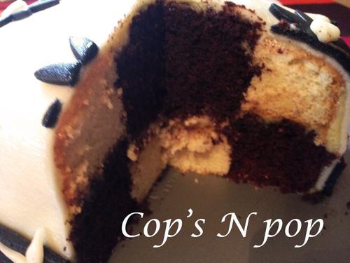 Gâteau damier  (tutoriel sans moule special!)
