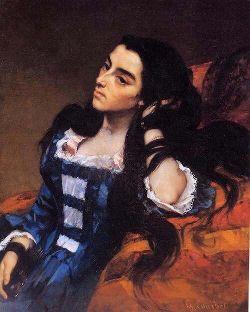Courbet 8 /    1855 : dans la tradition ...